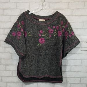 Angel + premium floral Embroidered blouse size M